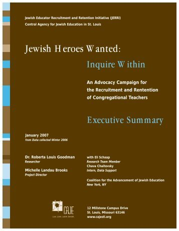Jewish Heroes Wanted: - Central Agency for Jewish Education