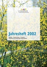 Jahresheft 2002 - Murg Stiftung