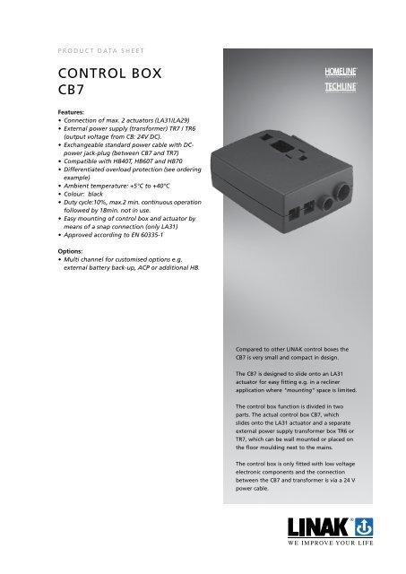 coNtroL BoX cB7 - Linak