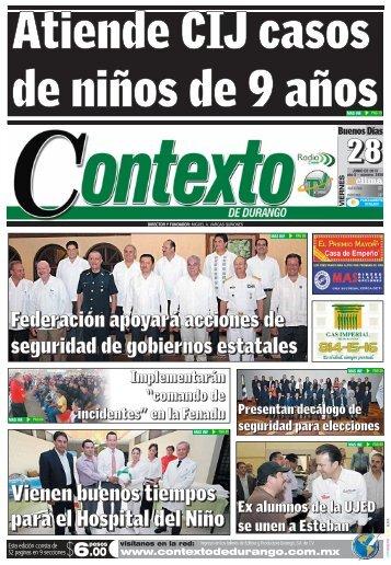 28/06/2013 - Contexto de Durango