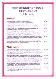 THE MUDDIFORD INN & RESTAURANT A la carte - Restaurants in ...