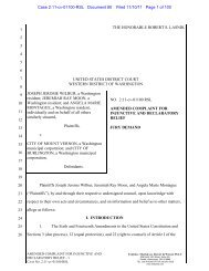 amended complaint for injunctive and declaratory relief - ACLU of ...