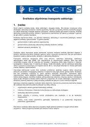 47 Sveikatos stiprinimas transporto sektoriuje 1. Ä®vadas