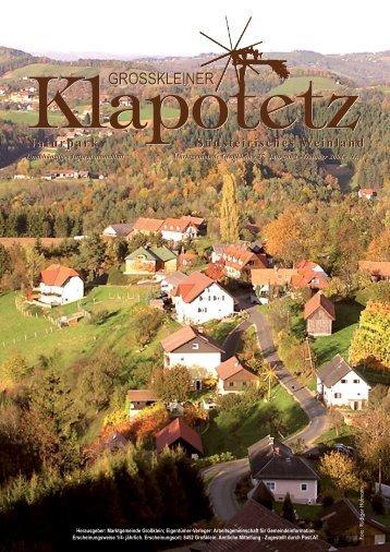 Klapotetz - 27. Jahrgang - Oktober 2008 - Nr. 3 (pdf