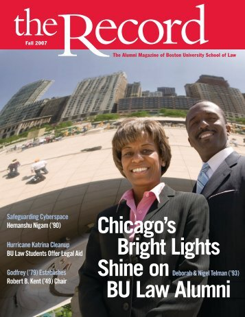Chicago's Bright Lights Shine on BU Law Alumni Safeguarding ...