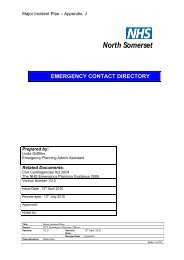 Contact Details - Incident Rooms - NHS North Somerset