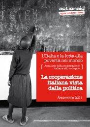 L'italia e la lotta alla povertà nel mondo - ActionAid