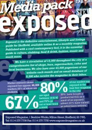 We have a circulation of 15,000 throughout the ... - Exposed Magazine