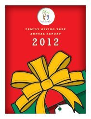 FGT-annual report 2012 v4.indd - Family Giving Tree