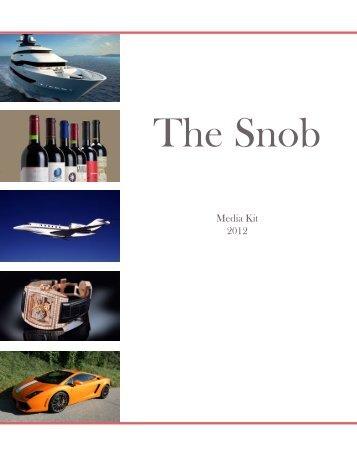 Media Kit 2012 - The Snob Magazine