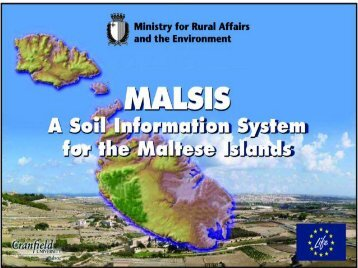 The MALSIS project – Development of a Soil ... - wise-rtd.info