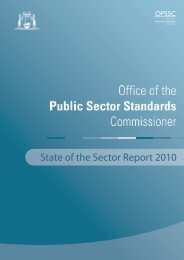 State of the Sector Report 2010 - Public Sector Commission