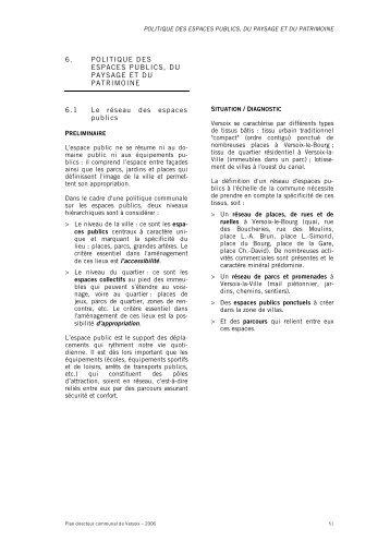 6. POLITIQUE DES ESPACES PUBLICS, DU ... - Etat de Genève