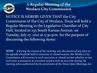 2. Agenda, July 17, 2012 - City of Weslaco