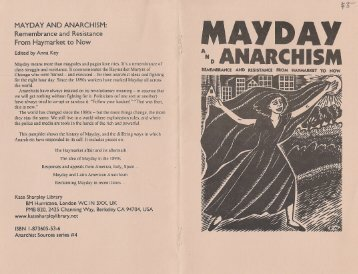 MAYDAY AND ANARCHISM: Remembrance and ... - ZineLibrary.info