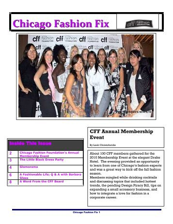 Chicago Fashion Fix CFF Annual Membership Event