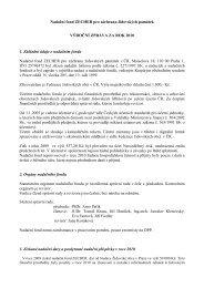 Výroční zpráva nadačního fondu Zecher za rok 2010 - Federace ...