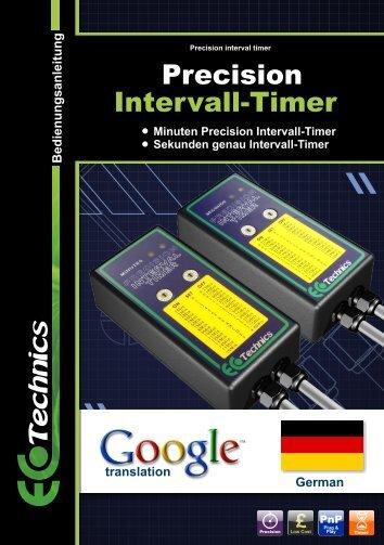 Precision Intervall-Timer - Ecotechnics.co.uk