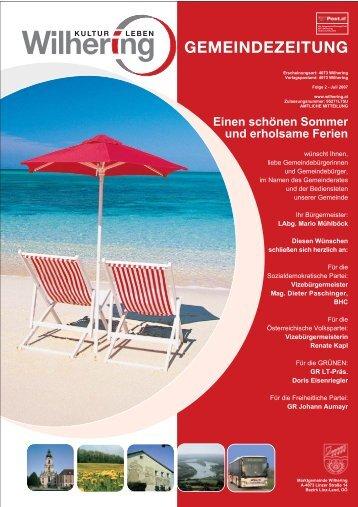 Gemeindezeitung 2 / 2007 (0 bytes) - Gemeinde Wilhering