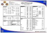 2012 prices - 3@1 Cresta