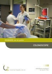 COLONOSCOPIE - UZ Brussel: Patientinfo