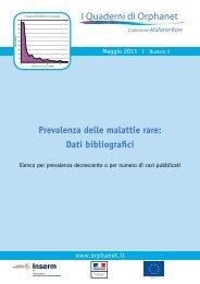 Prevalenza Malattie Rare in ordine decrescente o per numeri di casi ...