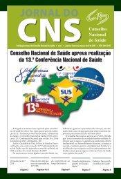 JORNAL DO - Conselho Nacional de Saúde - Ministério da Saúde
