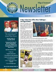 A New School Year Offers New Challenges - Village of Streamwood