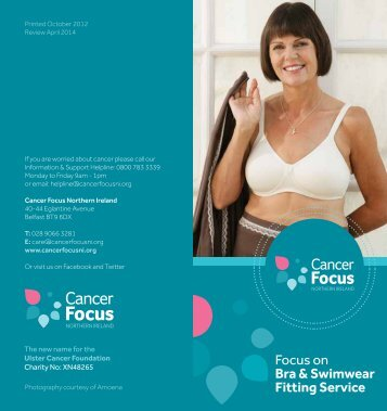 Bra Fitting Service - Cancer Focus Northern Ireland