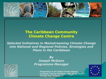 Selective initiatives in mainstreaming climate change into national ...