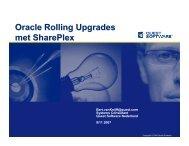 Oracle Rolling Upgrades met SharePlex