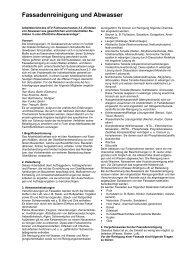 Fassadenreinigung und Abwasser - Uniter Chemie GmbH