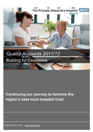 Quality Accounts - The Princess Alexandra Hospital | NHS Trust