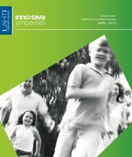 LAKES. (2010). Lahden alueen kilpailukyky- ja elinkeinostrategia.