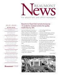 Beaumont News, Nov.-Dec. 2011 - Physician Portal Home