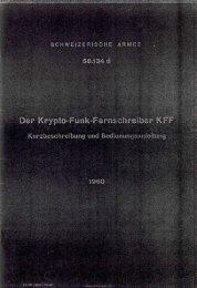Der Krypto - Funk - Fernschreiber KFF - armyradio.ch
