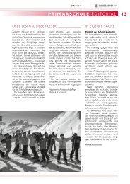 13 PRIMARscHuLE EDITORIAL - Primarschule Henggart