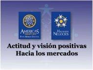 Actitud y visión positivas Hacia los mercados