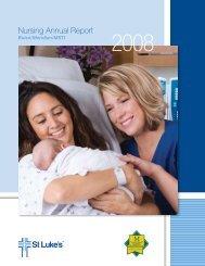2008 Nursing Annual Report - St. Luke's