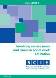 Involving service users and carers in social work education