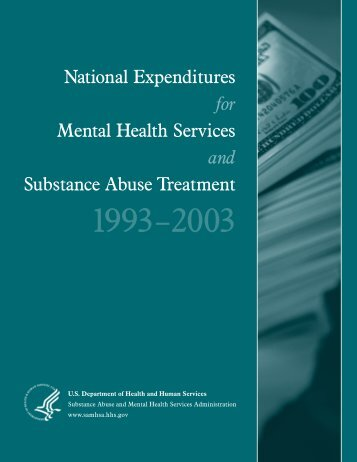 National Expenditures for Mental Health Services and Substance ...