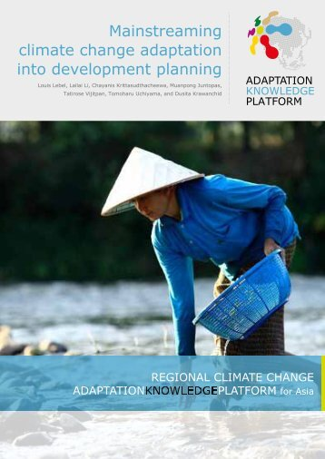 Mainstreaming climate change adaptation into development planning