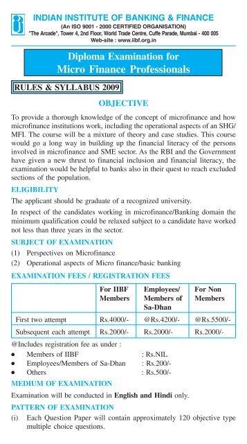 An ISO 9001 – 2000 CERTIFIED ORGANISATION - Sa-Dhan