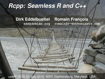presentation slides - Dirk Eddelbuettel