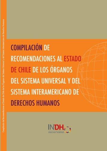 compilación de recomendaciones al estado de chile de los órganos ...
