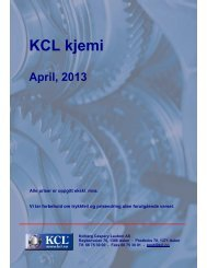 KCL kjemi - Kolberg Caspary Lautom AS
