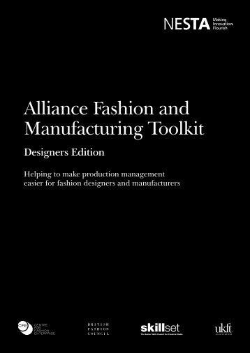 Alliance Fashion and Manufacturing Toolkit - Nesta