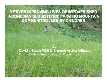 improving lives of impoverished indonesian subsistence farming ...