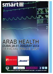 arab health official price list