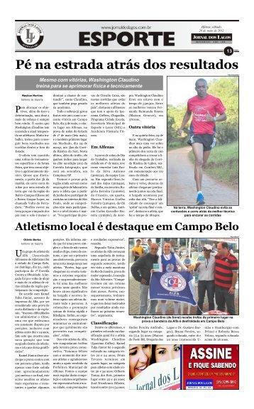 Pé na estrada atrás dos resultados - Jornal dos Lagos